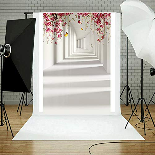 (MaxFox Wedding Photography Background Cloth,Waterproof Simple Style Vinyl Wood Wall Floor Photo Studio 3D Props Artistic Wall Photo Backdrops Cloth Seamless Without Wrinkles (B))