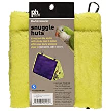 Prevue Hendryx Pet Products BPV1163 7-Inch Plastic/Fabric Bird Snuggle Hut, Small, Colors Vary