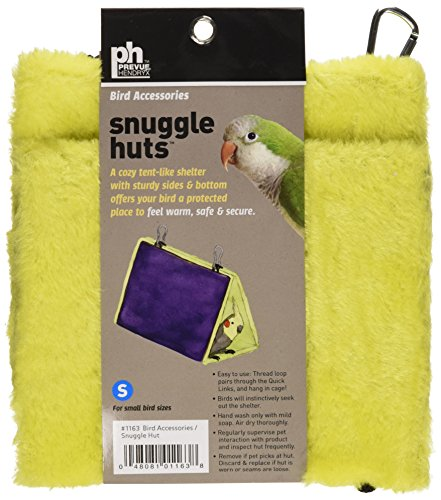 Prevue Pet Products BPV1163 7-Inch Plastic/Fabric Bird Snuggle Hut, Small, Colors - The Sale Hut