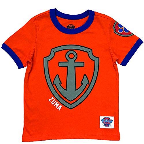 (Nickelodeon Paw Patrol Ringer T- Shirt: Chase, Marshall, Rocky, Rubble, Zuma,Sky, Everest (Zuma, 3T))