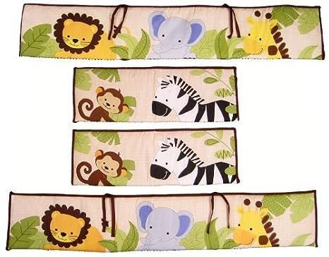 Bedtime Originals Jungle Buddies Bumper Brown//Yellow