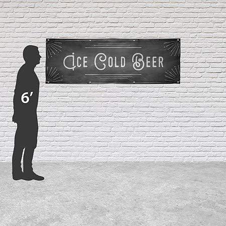 Chalk Corner Heavy-Duty Outdoor Vinyl Banner 12x4 CGSignLab Ice Cold Beer