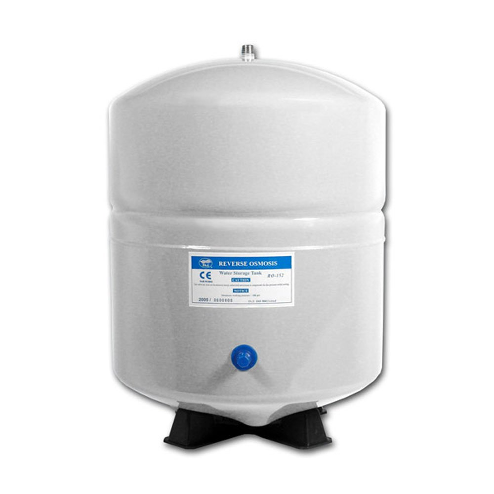 GGN-Tank-3.2W 4.4 Gallon RO Reverse Osmosis Tank with 1/4 NPT Stainless Steel Connector (White)