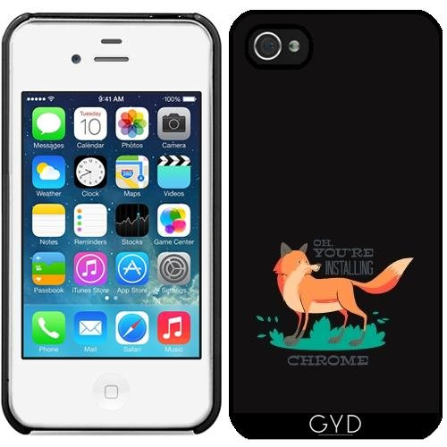 Coque pour Iphone 4/4S - Typographie Fun Firefox Fox by UtArt