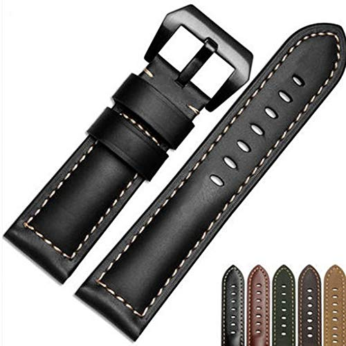 Junshion Replacement Luxury Leather Band Strap for Garmin Fenix 5X GPS Watch,Band Easy Fit 26MM Width Soft Silicone Watch Strap Replacement for Garmin Fenix 5X