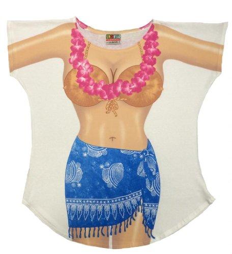 Bikini Body Cover-Up T-Shirt #16 Regular Size White (Bikini Tshirt Cover)