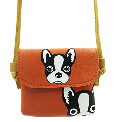 Price comparison product image Eilova Cute Animal Dog Pattern Little Girl Purse Small Crossbody Shoulder Bag Wallet for Women Kids
