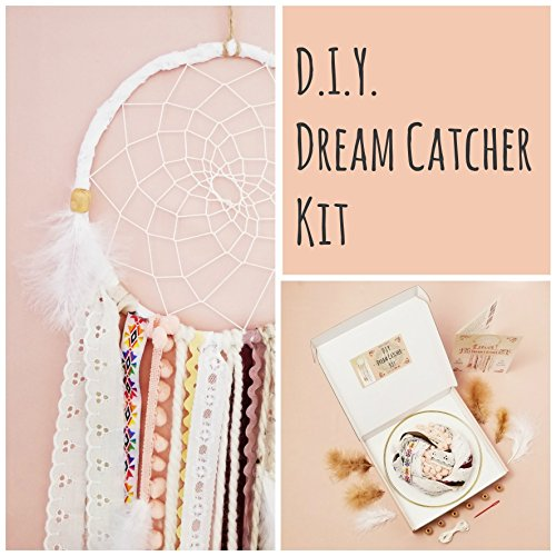 DIY Dream Catcher Craft Kit Birthday Gift For Girl Pink Nursery Room Decor Wall Hanging from The House Phoenix