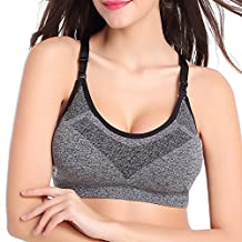 Gabkey Womens High Impact Strech Racer back Strap Workout Yoga Sports Bra