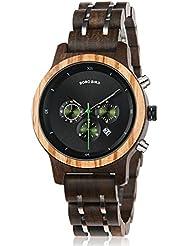 Womens Wooden Watches Luxury Wood Metal Strap Chronograph & Date Display Quartz Watch Versatile Ladies Timepieces...