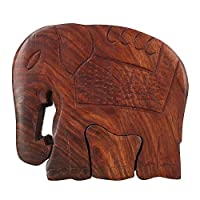 Mystery Box Wooden Puzzle Toys And Games Elephant Shape Indian