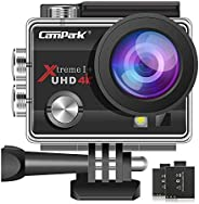 【2020 New】 Campark ACT74 Action Camera 4K Ultra HD WiFi Underwater Waterproof Camcorder with 170° Adjustable W