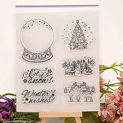 Christmas Stamps 2019.Amazon Com Scrapbook Stamp Christmas Tree Diy Scrapbook