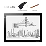 """Huion L4S 17.7"""" Ultra Thin 5mm LED Light Box Pad Tracing Board Table for Drawing Stencil Tattoo"""