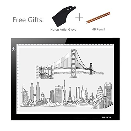 Huion L4S 17.7' Ultra Thin 5mm LED Light Box Pad Tracing Board Table for Drawing Stencil Tattoo