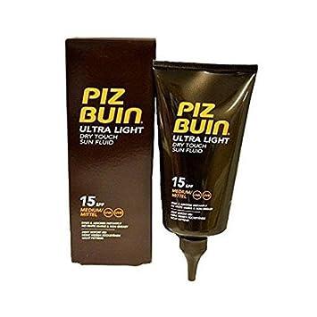 4b82589f34b Piz Buin Ultra Light Dry Touch Sun Fluid SPF 15 150 ml  Amazon.co.uk  Beauty
