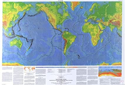 Amazon.com: Map of This Dynamic Pla: World of Volcanoes
