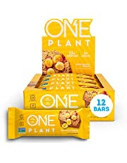 ONE Plant Proteïne Bars Glutenvrije Proteïne Bars met 12g Proteïne & Slechts 1g Suiker, Schuldloze Snacking voor Hoge Eiwit Diëten (Bananennoot Brood)