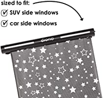 Diono Starry Night Sun Shade Black Child Window Shade with Glow in The Dark Stars