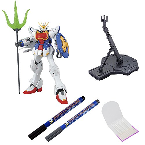 BANDAI BUNDLE SET , Shenlong Gundam XXXG-01S(EW) Battle Model + Action Base 1 Display Stand 1/100 Scale Black + GSI Creos Black + Gray Fine Point Gundam Marker + ORIGINAL COTTON SWAB