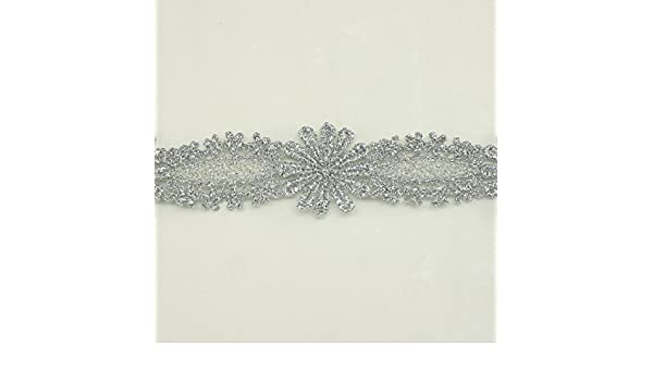 1 1//4 inch wide Snowflake Pattern Metallic Trim gold or silver color