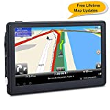 7 inches Car GPS, Navigation System for Cars Lifetime Map Updates Touch Screen Real Voice Direction Vehicle GPS Navigator