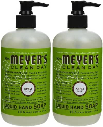 Liquid Hand Soap, Apple, 12.5 oz, 2 pk