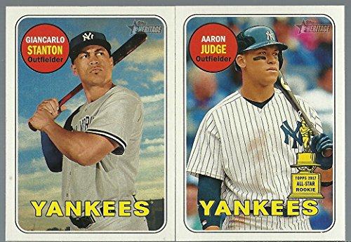 2018 Topps Heritage New York Yankees Team Set 26 Cards Aaron Judge Giancarlo Stanton First Yankees (Topps Set)