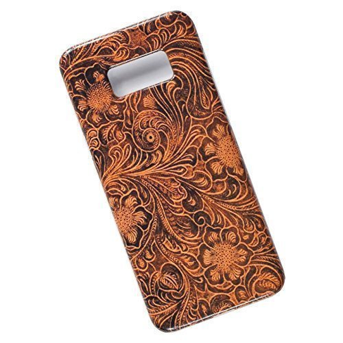 Tooled Leather Look. Slim Phone Case for Samsung Galaxy S8 Plus.