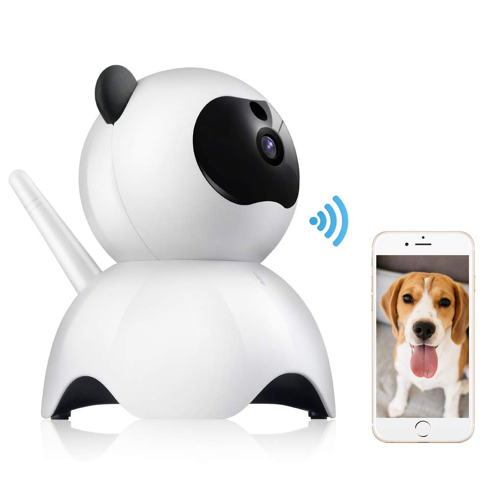 Petacc Pet Camera Night Vision Dog Camera Indoor Cat Camera Wireless IP Camera for Pet Monitor, 2.4GHz, Two-Way Audio, 1080P Video, Motion Detection, Pan 350°, Tilt 65° by Petacc (Image #1)