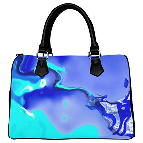 Jasonea Women Boston Handbag Top Handle Handbag Satchel Abstract Fate Ocean Basad155628