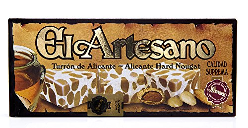 El Artesano Crunchy Almond Alicante Turron (Turron de Alicante Duro) 7 Oz (200 G) (Pack of 1) by El Artesano (Image #3)