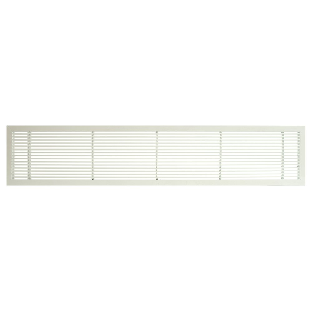 Architectural Grille 102251402 AG10 Series 2.25'' x 14'' Solid Aluminum Fixed Bar Supply/Return Air Vent Grille, White-Matte