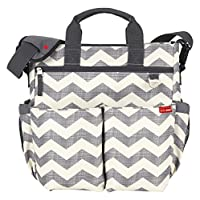 Skip Hop Baby Duo Signature Diaper Bag, Chevron, Grey/White