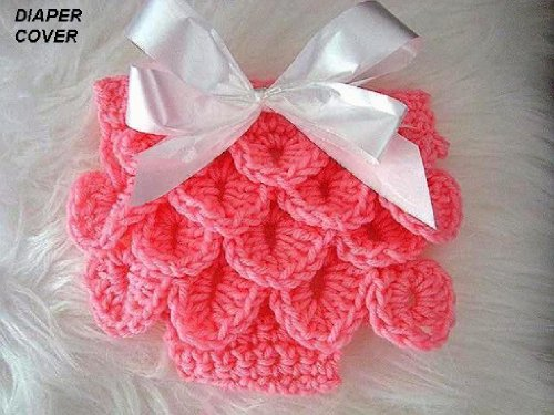 Crocodile Stitch Diaper Cover For Babies From Newborn To 12 Months