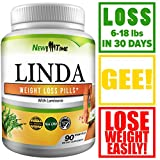 Linda – Weight Loss Pills for Women & Men – Natural Herbal Diet Supplements – Appetite Suppressant That Work Fast – Best Diet Pills 90 Pills Review