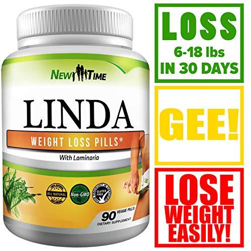 Linda - Weight Loss Pills for Women & Men - Natural Herbal Diet Supplements - Appetite Suppressant That Work Fast - Best Diet Pills 90 Pills