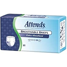 Attends Breathable Briefs Extra Absorbent- Extra Large 58in-63in 60 Each, 60 ea