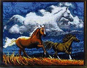 Janlynn Spirit Of The Horse Cntd X-Stitch Kit (Stitch Kit Cntd Cross)