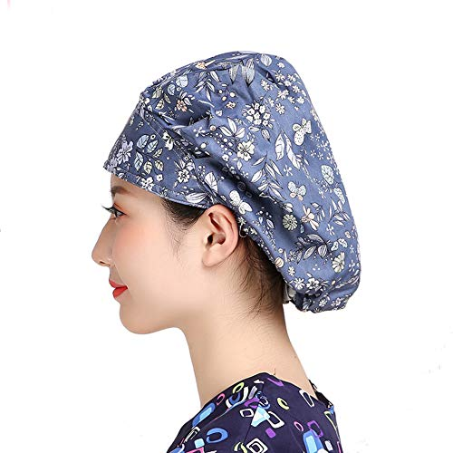 MAKEZTSD Adjustable Surgical Scrub Cap Medical Doctor Bouffant Hat Sweatband Scrub Hat Women/Men