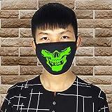Iusun Halloween 26 Styles Black Luminous Ghost Skull Half Face Scary Horror Mask Props (G)