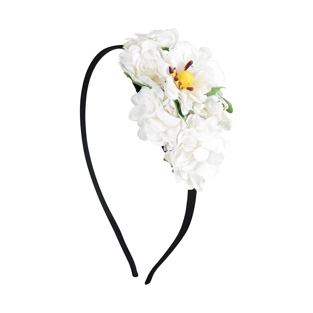 Amazon Thin Wreath Headband With 3d Flower White Beauty