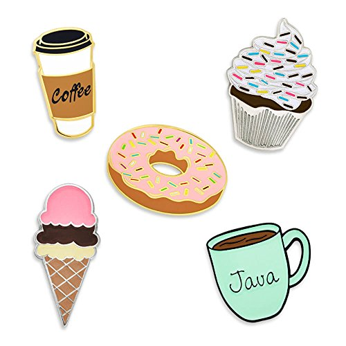 Cupcake Brooch (PinMart's Sweet Tooth Dessert and Coffee Enamel Lapel Pin Set)