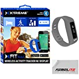 """XFIT Wireless Bluetooth Activity/Fitness Tracker Watch with 5 on screen Display modes for iPhone 6, 6 Plus, 5S, 5C, 5, 4S, Samsung Galaxy S5, S4, S3; iPad Mini 3,2, 1, Air 2, Air 1, iPad 3, iPad 4, iPod Touch Gen 5; Samsung Galaxy Note 2, Galaxy Tab 4 10.1"""" (w/ Android 4.4.2)"""