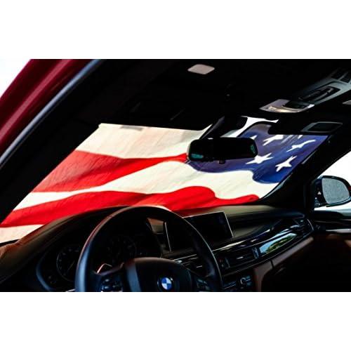 Driver Mods US Flag Custom Car Sun Shade Windshield For Toyota 2013-2016 RAV4