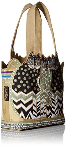 Laurel Burch TRES GATOS Polka Dot Medium Tote Bag by Laurel Burch (Image #1)
