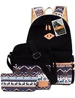 Leaper Casual Lightweight Canvas Laptop Bag/Shoulder Bag/School Backpack