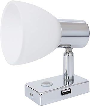 Chrome DEL mur lampe chambre Veilleuse Lampe Verre Projecteur pivotante