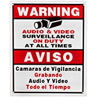 BV-Tech SIGN-E Best Vision 12 x 16 Security Surveillance Warning Sign for CCTV Camera (White)