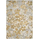 Safavieh Evoke Collection EVK236P Vintage Floral Grey and Gold Area Rug (8′ x 10′)